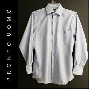 Pronto Uomo Non Iron Long Sleeve Dress Shirt 15.5